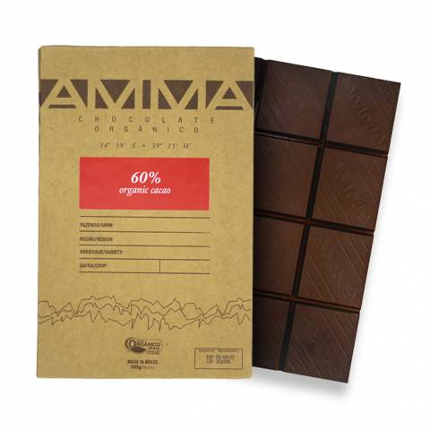Chocolate 60% Cacau Barra 500g